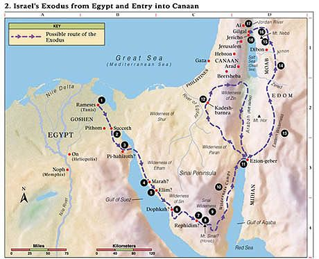 Exodus Route Map